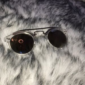 Accessories - Mirrored Round Lens Sunglasses